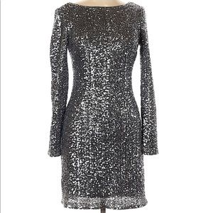 Aiden Silver Sequined Mini Dress